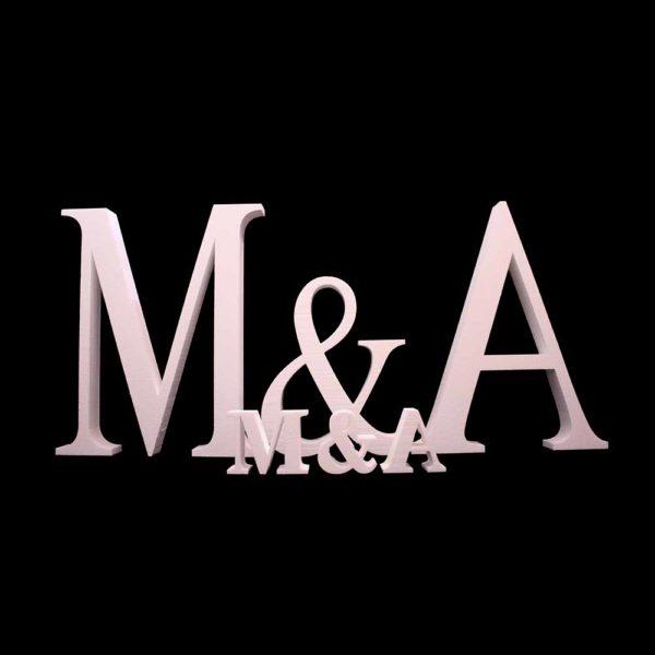 Iniciales porexpan-letras gigantes porexpan-letras para bodas- iniciales gigantes bodas-Comprar iniciales porexpan