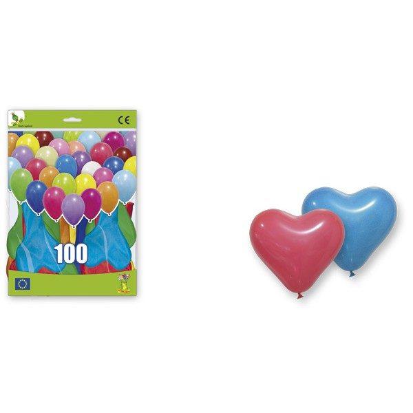 Festivat-100 globos corazon-globos corazon fiesta-globos corazones