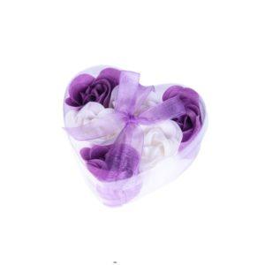 Festivat-6 flores jabon-flores jabon lila-regalar flores de jabon