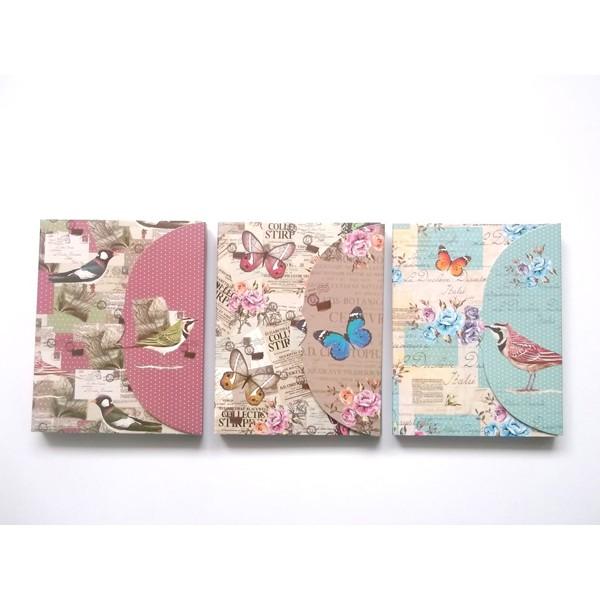 Festivat-bloc notas butterfly-bloc notas vintage-bloc notas mariposas
