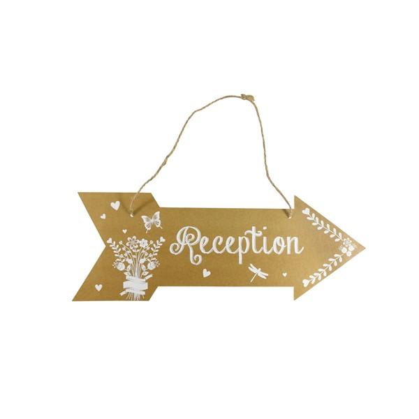 Festivat-cartel flecha recepcion-flecha para boda-flechas boda