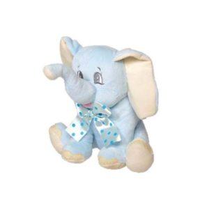 Festivat-elefante peluche lazo azul-elefante azul regalo-comprar regalos bautizos baratos-complementos boda low cost-complementos para mi boda