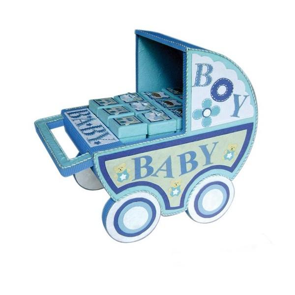 Festivat-carro baby azul-expositor detalles comunion-regalos comunion
