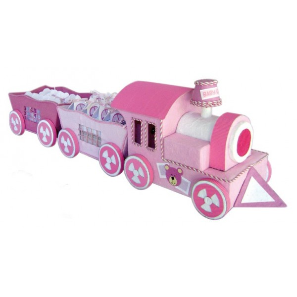 Festivat-expositor tren baby rosa-regalos originales bautizo-¿Qué regalar en un bautizo?-Regalos originales de Bautizo-Ideas para regalar en un bautizo