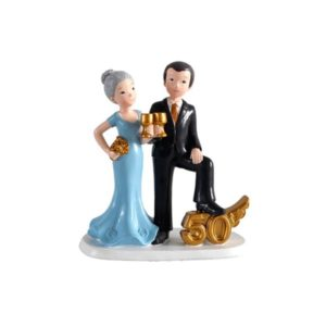 Festivat-figura pastel 50 copas-figura bodas de oro-pastel 50 años