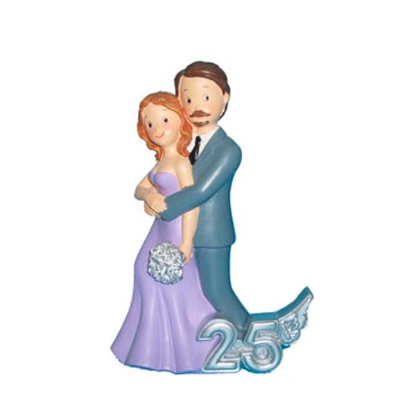 Festivat-figura pastel 25 abrazo-figura pastel boda de plata