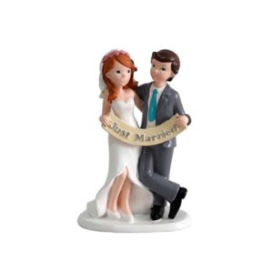 Festivat-figura pastel just married-figura just married-figura novios bodas