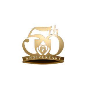 Festivat-figura pastel metalica 50-figura pastel bodas oro-bodas de oro-detalles 50 aniversario-figura pastel 50 aniversario
