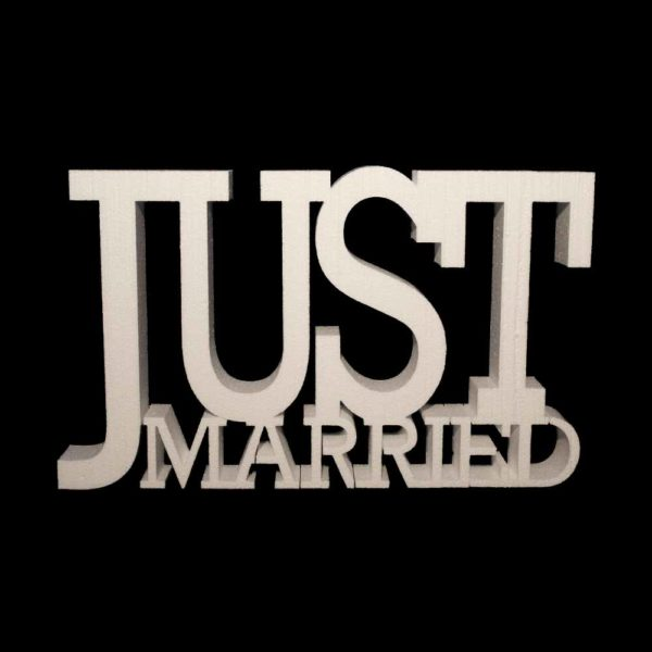 just married porexpan,just married gigante,letras bodas just married,just married corcho blanco,just married poliespan, Festivat todo para boda