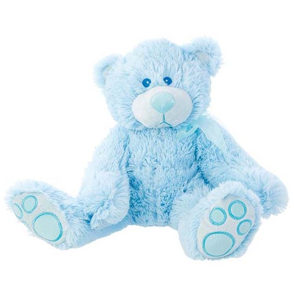 Festivat-peluche osito baby azul-cestas de regalo para bebes-complementos para bautizos-complementos para comuniones