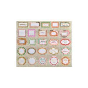 Festivat-set 25 etiquetas floral-Cómo hacer las invitaciones de boda-Tarjetas de agradecimiento de boda-Etiquetas personlizadas de regalo