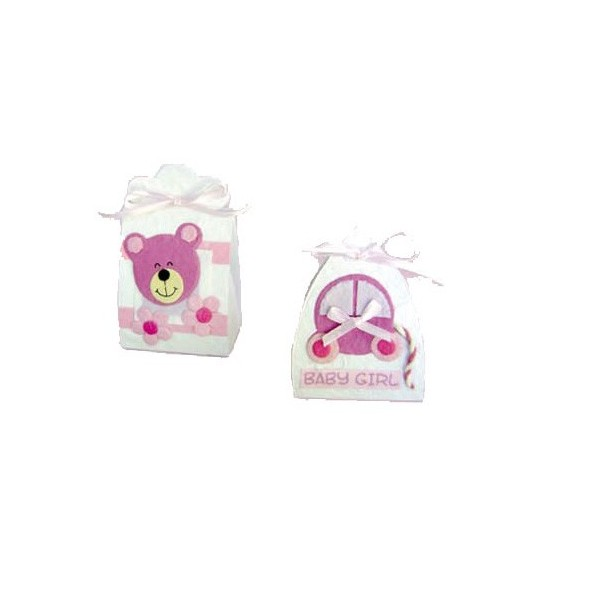 Festivat-set 16 cajitas baby rosa-cajitas para regalos bebe-cajitas bautizo-cajita para detalles comunion-cajita para regalo comunion