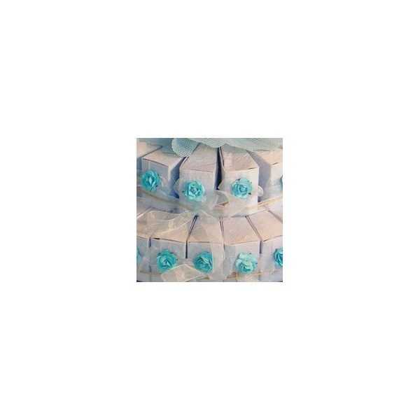 Festivat- 45 cajas tarta celeste-cajitas para detalles boda
