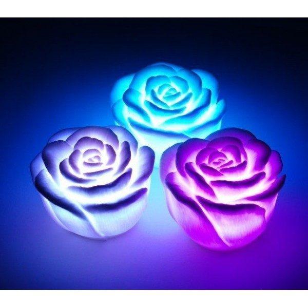 Festivat-flor led forma rosa-flor forma de led-flores led decoracion