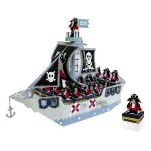 Festivat-expositor barco pirata-cajitas para regalos comunion
