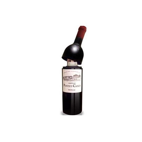 Festivat-memoria usb botella vino 4gb-botella vino usb-regalar usb botella