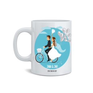 Taza novios bicicleta-taza para bodas bicicleta-taza bicicleta boda